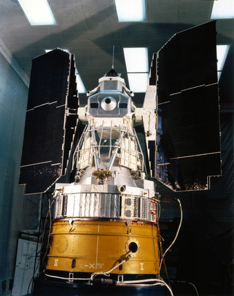 An early Earth Resources Technology Satellite (ERTS), 1975.