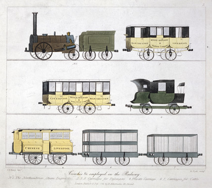 'Coaches Employed on the Railway', 1831.