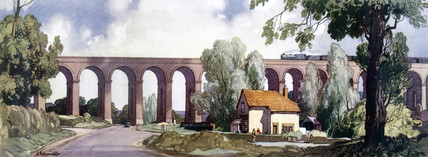 Colne Valley Viaduct at Chappel, Essex. Bri