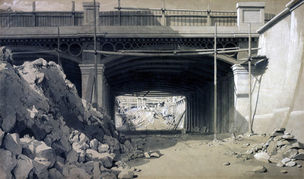 Hampstead Road Bridge, London, September 1836.