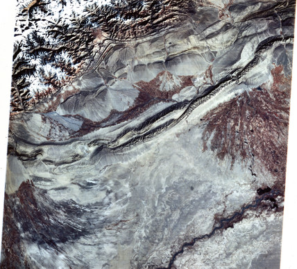 Landsat image of China, 1970s.