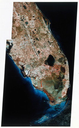 Landsat image of South Florida, 1980s.