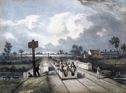 View of the Liverpool & Manchester Railway, 1831.