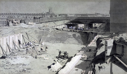 Hampstead Road Bridge, London, from the Camden side, 16 August, 1836.