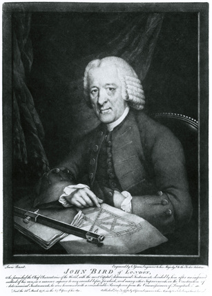 John Bird, British mathematical instrument maker, 1770s.
