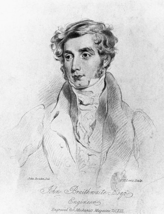 John Braithwaite, British engineer, c 1830.