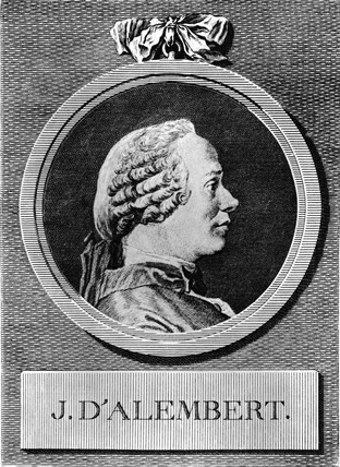 Jean le Rond D'Alembert, French mathematician and philosopher, c 1750.