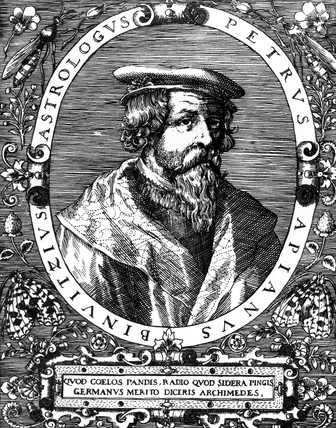 Peter Bienewitz Apian, mathematician, astronomer and geographer, c 1540.
