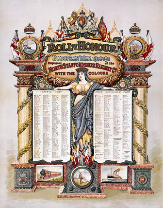 Roll of Honour, North Staffordshire Railway, 1914-1918.