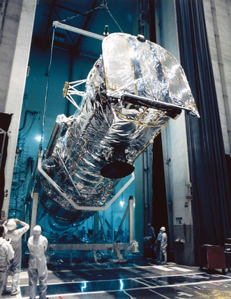 Testing the Hubble Space Telescope, 1980s.