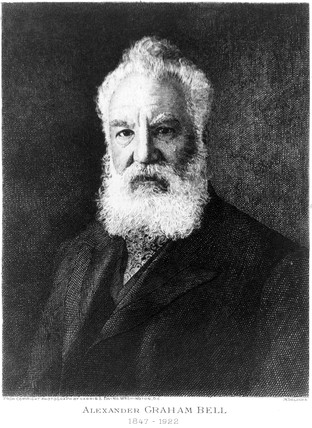 Alexander Graham Bell, Scottish-born inventor and telephone pioneer, 1910.