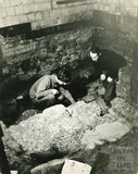 Examining archaeological remains in the Temple Precinct c1960s?