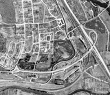 1990 The aerial view of the approved route the Batheaston Bypass and A36 link road 22 Nov - detail
