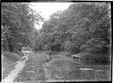 Fishing on the Kennet and Avon Canal near Limpley Stoke c.1934