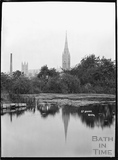 View of St Johns Church across the River Avon c.1920s
