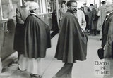 Emperor Haile Selassie waiting at Bath Spa station to greet Empress Menen in October 1936