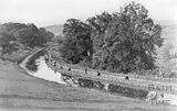 Fishing competition on the Kennet and Avon Canal, Bathampton c.1910