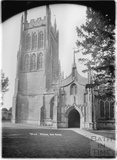 Church Tower and Porch, Mells, Somerset c.1938