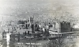 View of Bath Abbey and the Empire Hotel from Sham Castle, posted 1915