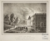 Prior Park House on fire, Bath 1836