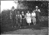 A group of locals, Leigh on Mendip, Somerset 28 June 1935