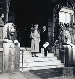 Queen Mary visits the Grand Pump Room Hotel, c.1950s