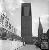 The Beaufort (Hilton) Hotel lift elevation and ventilation tower, Walcot Street 14 May 1973