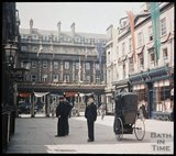 Dufaycolor view of  Abbey Church Yard, Bath, May 1937