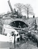 Juggernaut crashed through Bathwick Hill bridge into the Kennet and Avon Canal, April 10th 1984