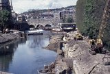 The Bath Flood Prevention Scheme being built, 1971