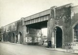 Railway viaduct by Old Bridge, Bath, 1929