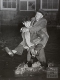 Getting a piggy back home from the pub, Bath 1960