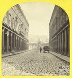 Bath Street looking towards the mineral water fountain, Bath 1863