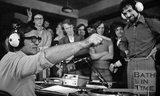 Legendary Disc Jockey Alan Fluff Freeman visits the University of Bath, 20 May 1974