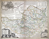 An Improved Map of the County of Somerset. Bowen c.1740