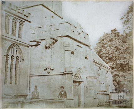 View of Porch, Corsham Church c.1850