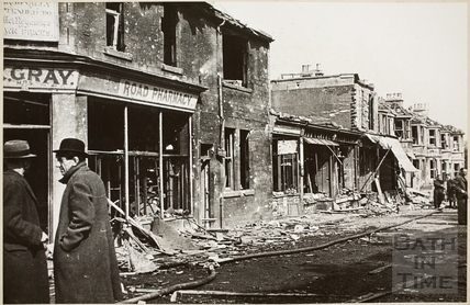 Hayes Place, Holloway after the Blitz, Bath 1942