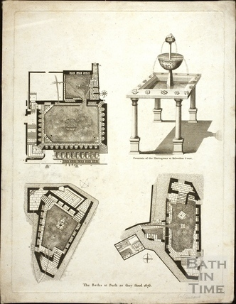 The Baths as they stood, Bath 1676
