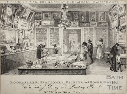 Duffield's Gallery of Engravings and Saloon of Fine Arts, 12, Milsom Street, Bath c.1829