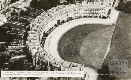 Aerial view of the Royal Crescent, Bath c.1930