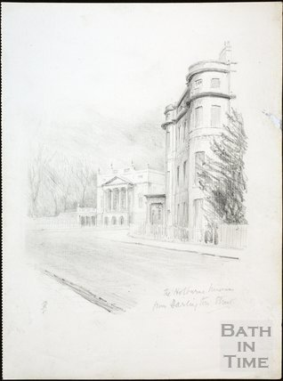 The Holburne Museum from Darlington Street, Bath c.1930