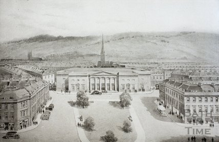 The Concert Hall - Looking East from Lower Borough Walls, Bath