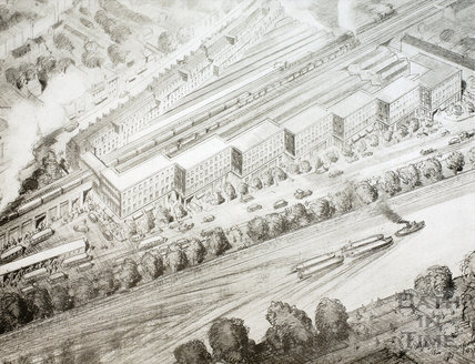 The Redeveloped Wood Street Area. Complete with charabanc station. Wells Road and Lower Bristol Road, Bath