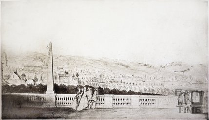 View from South Parade towards Bathwick, Bath c.1780
