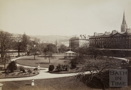 North Parade and Royal Institution Gardens, Bath c.1900