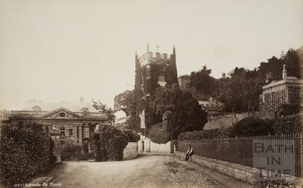 Old Church and Manor, Widcombe, Bath 1876