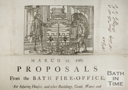 Proposals from the Bath Fire-Office 1767 - detail