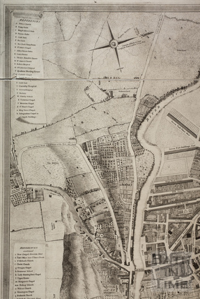 Charles Harcourt Masters map of Bath 1808 - detail