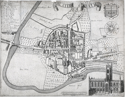 Gilmore's Map of The City of Bath 1694