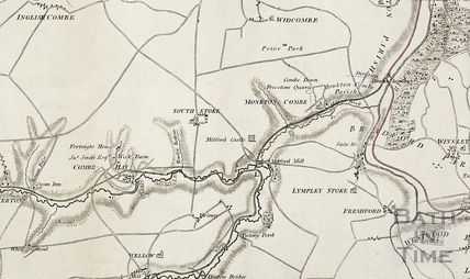The proposed Somersetshire Coal Canal and Kennet and Avon Canal 1793 - detail
